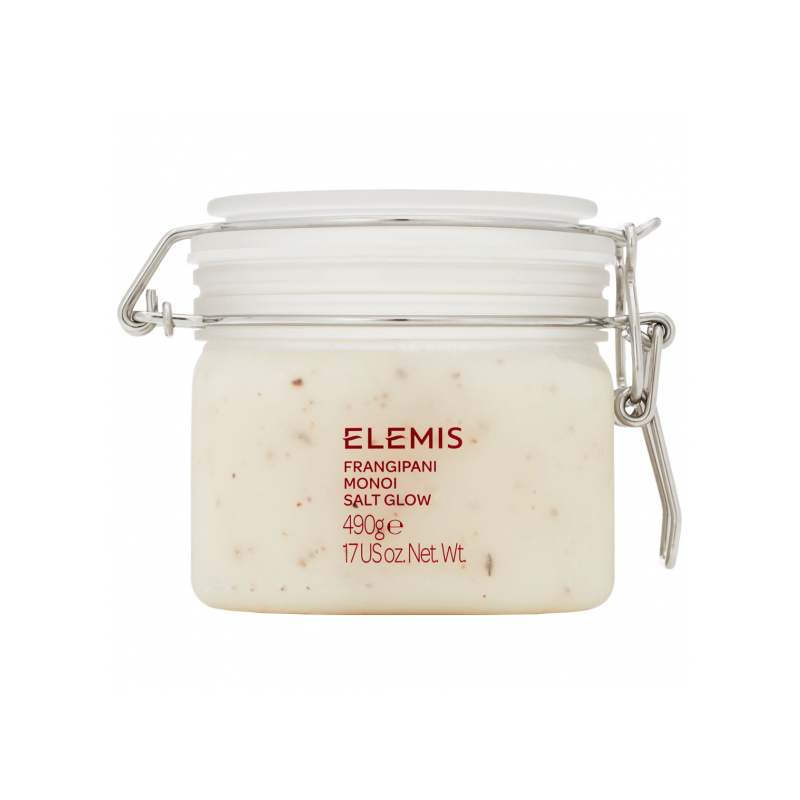 Elemis Frangipani Monoi Salt Glow Body Scrub 490g - Deep Cleansing Body Exfoliator