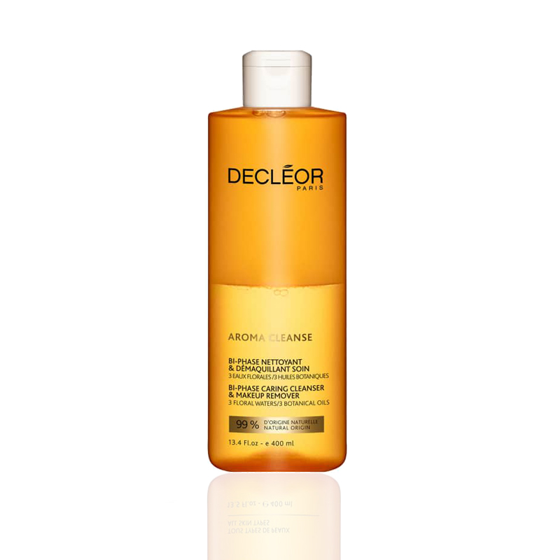 Decleor Bi-phase Caring Cleanser And Make up Remover 400ml - Ideal for Face, Eyes, Lips & Sensitive Skin