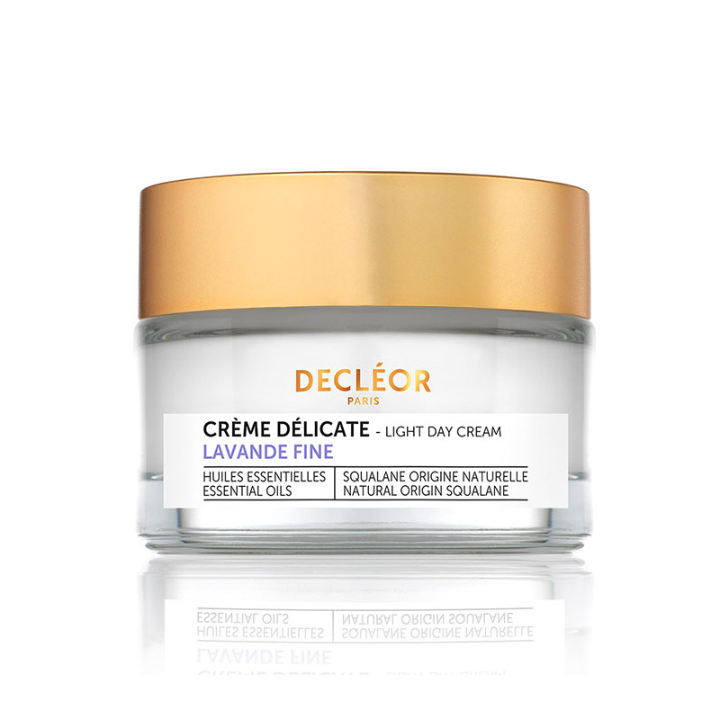 Decleor Lavender Fine Light Day Cream 50ml - Anti Aging Face Moisturiser to Reduce Fine Lines & Wrinkles