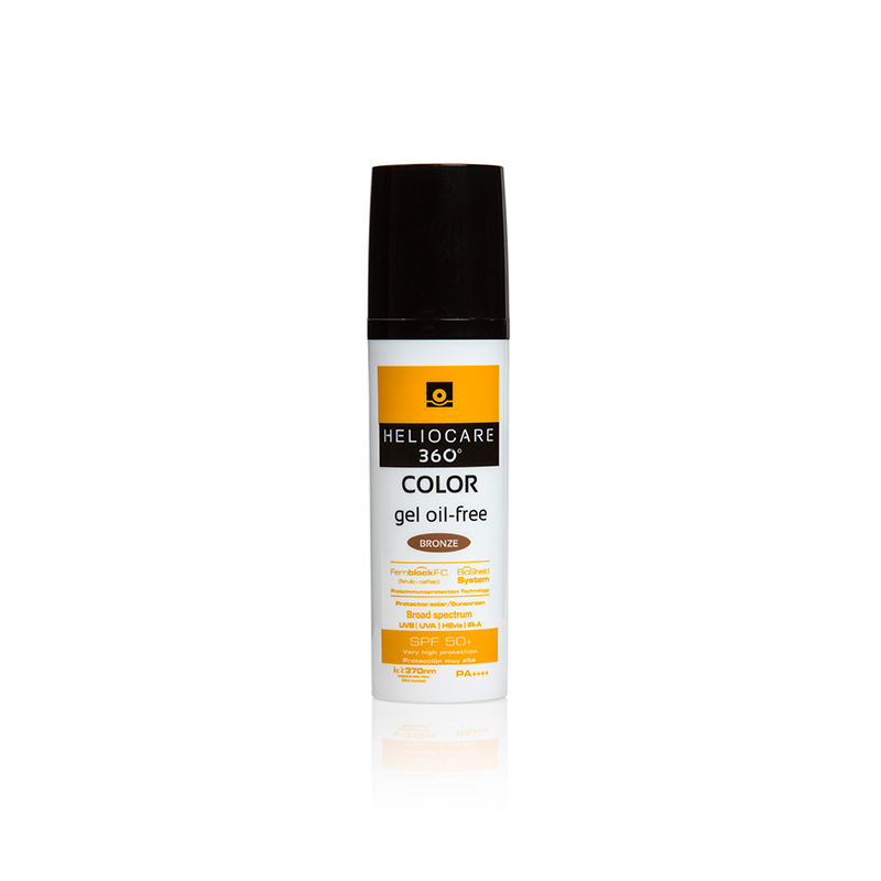 Heliocare 360 Color Gel Oil-Free SPF 50+ Bronze 50ml - Perfect Sunscreen for Dry, Oily & Sensitive Skin