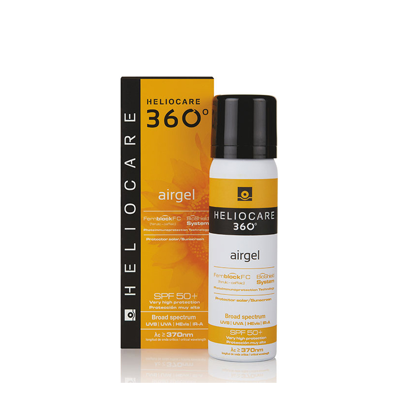 HELIOCARE 360° Air Gel SPF 50+ 60ml - Paraben Free Sun Protection - Gentle Foaming Mousse