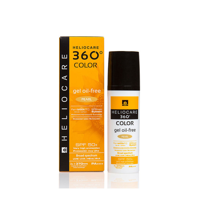 HELIOCARE 360° Color Gel Oil-Free SPF 50+ Pearl 50ml - Anti Aging & Anti Spot Suncreen for All Skin Types